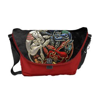 600 Celtic Sacred Art - Three Dogs Courier Bag