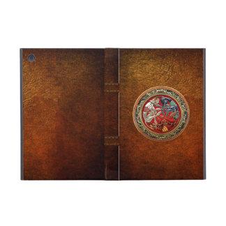 [600] Celtic Treasures - Three Dogs on Gold iPad Mini Covers