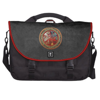 600 Celtic Treasures - Three Dogs on Gold Commuter Bag