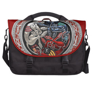 600 Celtic Treasures - Three Dogs on Silver Commuter Bags