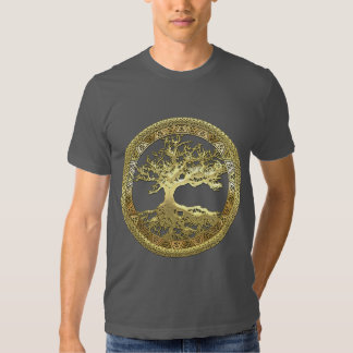 [600] Celtic Tree of Life [Gold] T-shirts