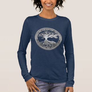 [600] Celtic Tree of Life [Silver] Long Sleeve T-Shirt