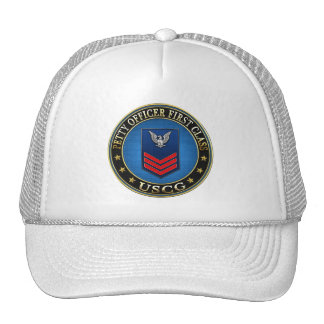 [600] CG: Petty Officer First Class (PO1) Trucker Hats