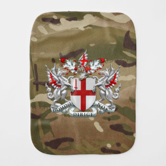 [600] City of London - Coat of Arms Baby Burp Cloth