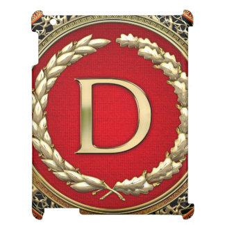 "[600] ""D"" Gold Vintage Monogram iPad Cases"