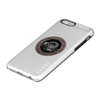 [600] Escorpión de plata sagrado en negro Funda Para iPhone 6 Plus Incipio Feather Shine