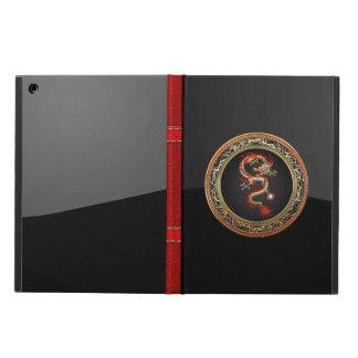 [600] Golden Chinese Dragon Fucanglong iPad Air Cover