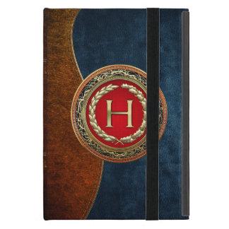 "[600] ""H"" Gold Vintage Monogram Cover For iPad Mini"