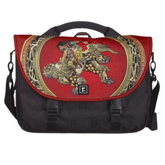 [600] Hokusai - Shoki que montan el león de Shishi Bolsa Para Ordenador