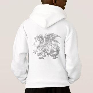 [600] Icelandic Dragon, Landvættir [Silver] Hoodie