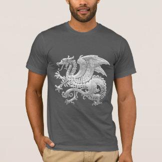 [600] Icelandic Dragon, Landvættir [Silver] T-Shirt