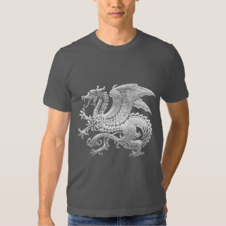[600] Icelandic Dragon, Landvættir [Silver] Tee Shirt