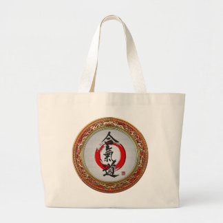 [600] Japanese calligraphy - Aikido Large Tote Bag