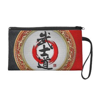 [600] Japanese Calligraphy - Bushido Wristlet Purse