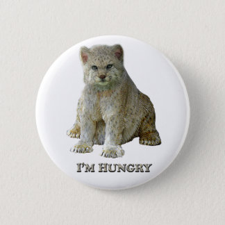 600 lb Cat Hungry - Round Button