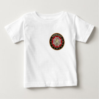 [600] Master Mason - 3rd Degree Square & Compasses Baby T-Shirt