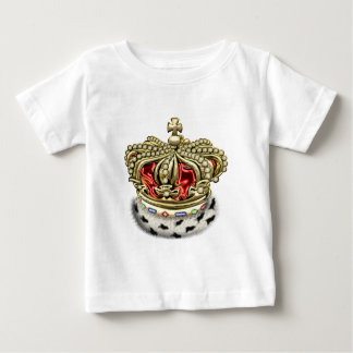 [600] Prince [King] Royal Crown [Fur+Gold][Red] Baby T-Shirt