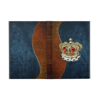 [600] Prince [King] Royal Crown [Fur+Gold][Red] Case For iPad Mini