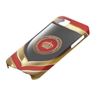 [600] Prince-Princess King-Queen Crown [Belg.Gold] iPhone 5 Cases