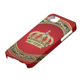 [600] Prince-Princess King-Queen Crown [Belg.Gold] iPhone 5 Covers