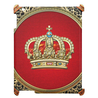 [600] Prince-Princess King-Queen Crown [Belg.Gold] Cover For The iPad