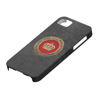 [600] Prince-Princess King-Queen Crown [Belg.Gold] iPhone SE/5/5s Case