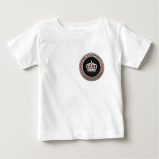 [600] Prince-Princess King-Queen Crown [Silver] Baby T-Shirt