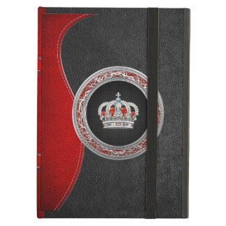 [600] Prince-Princess King-Queen Crown [Silver] Cover For iPad Air
