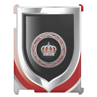 [600] Prince-Princess King-Queen Crown [Silver] iPad Covers