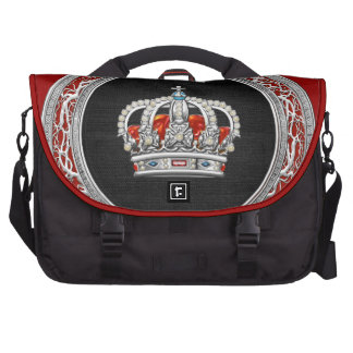 [600] Prince-Princess King-Queen Crown [Silver] Commuter Bag