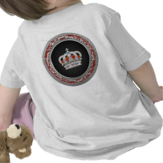 [600] Prince-Princess King-Queen Crown [Silver] T-shirts