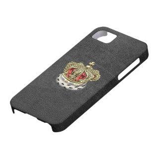 [600] Príncipe [rey] corona real [piel+Oro] [rojo] iPhone 5 Carcasa