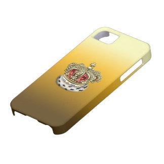 [600] Príncipe [rey] corona real [piel+Oro] [rojo] iPhone 5 Funda