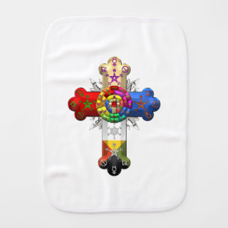 Rosicrucian gifts on zazzle 600 rosy cross rose croix baby burp cloth aloadofball Choice Image
