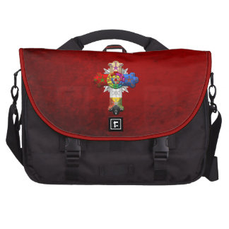 [600] Rosy Cross (Rose Croix) Laptop Messenger Bag