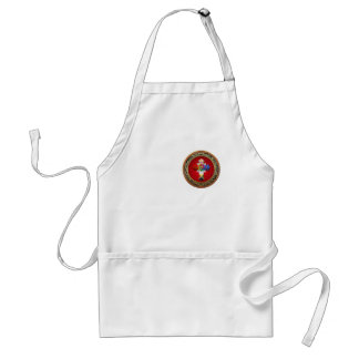 [600] Rosy Cross (Rose Croix) on Red & Gold Adult Apron