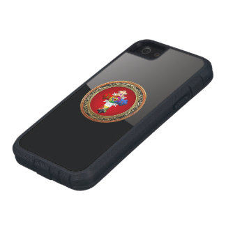 [600] Rosy Cross (Rose Croix) on Red & Gold iPhone 5/5S Cases