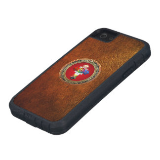 [600] Rosy Cross (Rose Croix) on Red & Gold iPhone 5 Covers