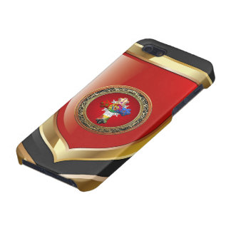 [600] Rosy Cross (Rose Croix) on Red & Gold Covers For iPhone 5