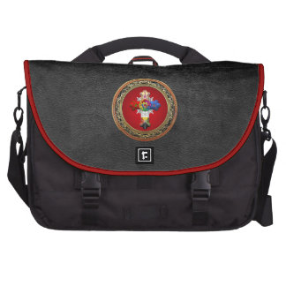 [600] Rosy Cross (Rose Croix) on Red & Gold Laptop Bag