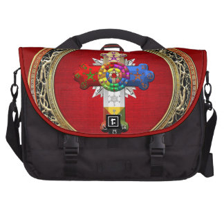 [600] Rosy Cross (Rose Croix) on Red & Gold Commuter Bag