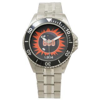600 series del rojo relojes de pulsera