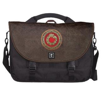 [600] Serpent God Quetzalcoatl [Gold] Laptop Computer Bag