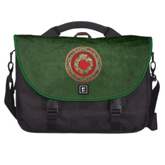 600 Serpent God Quetzalcoatl Gold Commuter Bag