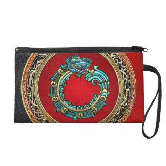 600 Serpent God Quetzalcoatl Jade Wristlet Clutches
