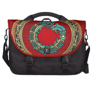 [600] Serpent God Quetzalcoatl [Jade] Bag For Laptop
