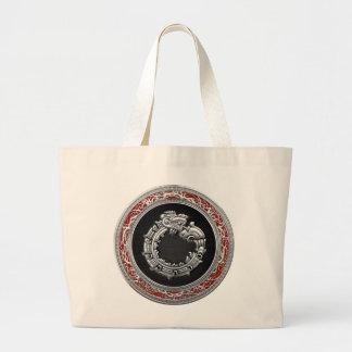 600 Serpent God Quetzalcoatl Silver Bag