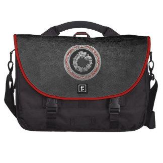 [600] Serpent God Quetzalcoatl [Silver] Laptop Bags
