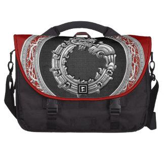 [600] Serpent God Quetzalcoatl [Silver] Bag For Laptop