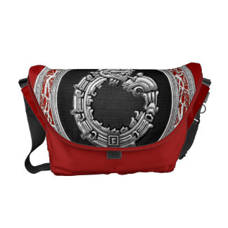 600 Serpent God Quetzalcoatl Silver Courier Bags